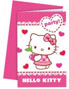 6 Inviti party con buste Hello Kitty™