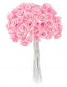 72 mini rose in raso color rosa