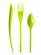 30 Posate in plastica verde anice