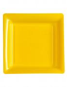 12 piatti quadrati gialli