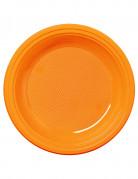 50 piattini color mandarino 17 cm