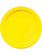 30 piatti di plastica gialli