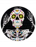 6 piatti di cartone Dia de los muertos