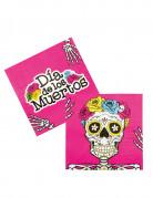 12 tovaglioli di carta Dia de los muertos