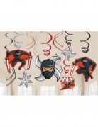 12 decorazioni da appendere ninja