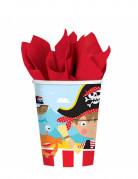 8 bicchieri di carta piccolo pirata