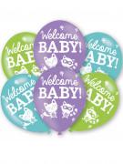 6 palloncini di lattice Welcome Baby