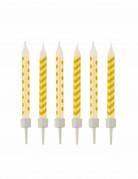 10 candeline a zig zag e pois gialle