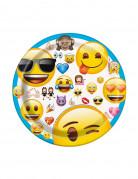 8 piccoli piatti di carta Emoji™