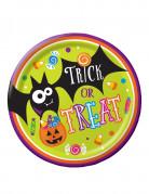 8 Piatti di carta Dolcetto o scherzetto per Halloween
