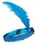 Fascia blu con piuma stile Charleston
