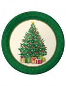 8 piatti con Albero di Natale 23 cm