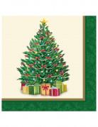 16 tovaglioli di carta con Albero di Natale 33 cm