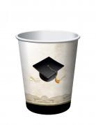 8 bicchieri di carta laurea