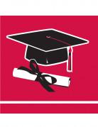36 tovagliolini rossi Congrats Grad