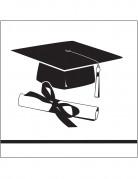 36 tovagliolini bianchi Congrats Grad