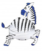 Lanterna alveolata a forma di zebra