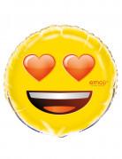Palloncino di alluminio emoticon cuoricini Emoji™