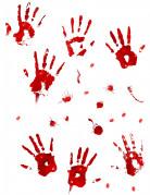 Stickers con impronte di sangue