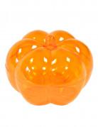 Scatola zucca arancione trasparente