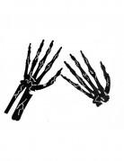 6 mani da scheletro nere con gessetto