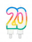 Candelina con il numero 20