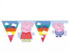 Ghirlanda con bandierine Peppa Pig™