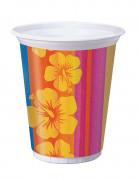 8 grandi bicchieri di plastica Hawaii