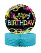Centrotavola Happy Birthday Fluo Party