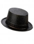 Cappello a cilindro brillantini neri