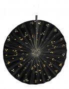 Rosone nero con triangoli dorati 40 cm