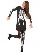 Costume con vestito scheletro da donna