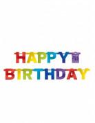 Ghirlanda Happy Birthday multicolore
