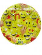 10 piatti in cartone Emoji sfondo giallo™ 23 cm