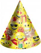 6 cappellini da festa in cartone Imoji™