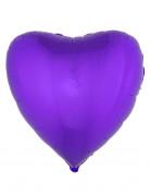 Palloncino in alluminio cuore viola 45 cm