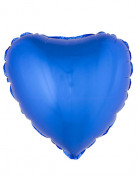 Palloncino di alluminio cuore blu 45 cm