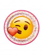8 piattini Emoji™ 17.5 cm cuoricino