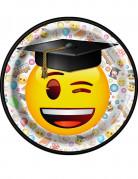 8 piattini laurea Emoji™ 17 cm