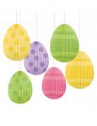 6 sospensioni con uova di Pasqua