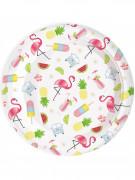 8 piatti di cartone Summer party 22 cm