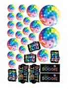 30 decorazioni in cartone a tema disco