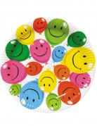 6 piatti in cartone smile 22 cm