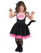 Costume gattina nero e rosa bambina