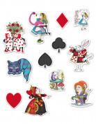 12 decorazioni di cartone di Alice