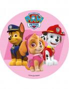 Disco di zucchero rosa Paw Patrol™ 21 cm