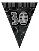 Ghirlanda con bandierine grigia 30 anni