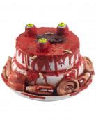 Decorazione torta con parti del viso per Halloween