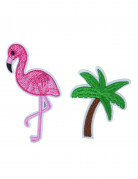 2 spille fenicottero e palma