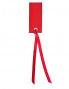 12 etichette con nastrino rosse